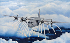 C-130 with Flares Giclee Print       Rolled