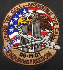 512th AW 9-11-01 Enduring Freedom Patch