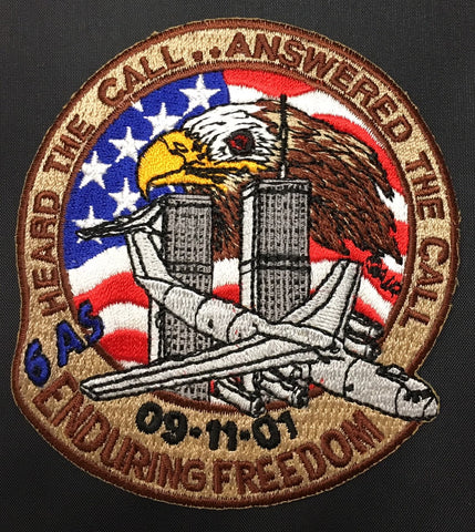 6AS 9-11-01 Enduring Freedom Patch