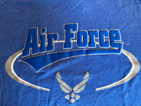 Air Force  T-Shirt  Lt Blue Swirl                         Apparel