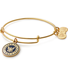 Alex and Ani -  US Navy Charm Bangle Bracelet      Jewelry