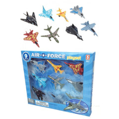 Air Force Playset - 9 pc. Diecast Metal     Toy