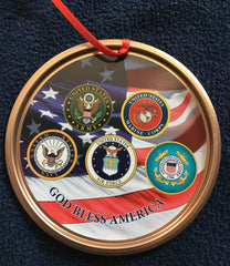 Spirit of Liberty Armed Forces Ornament