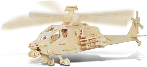 Apache Helicopter 3-D Wood Puzzle    Toy