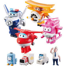 Super Wings Transforming Flight Crew Toys