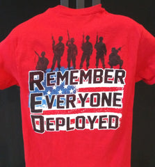 Remember Everyone Deployed  - RED short sleeve T-shirt apparel