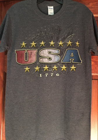 USA T-Shirt Gray