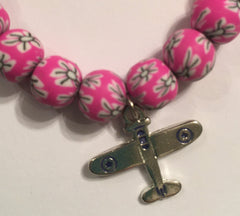 Beaded Bracelet with Plane - Jewelry