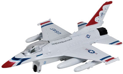 Diecast Pullback F-16 Fighting Falcon Thunderbirds             Toy