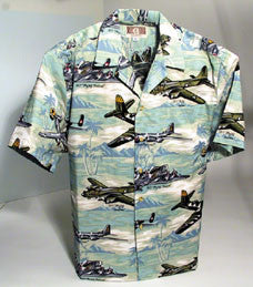 Hawaiian Shirts Sea Foam Green