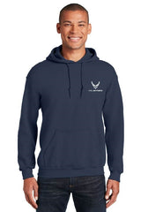 US Air Force Embroidered Hoodie Sweatshirt - Navy Blue Hap Arnold