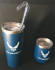 US Air Force Blue   Stainless Steel Tumbler - Two Sizes    Gifts