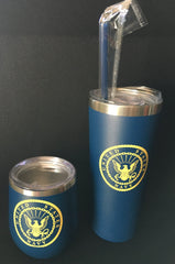 US Navy Blue Stainless Steel Tumbler    Gifts