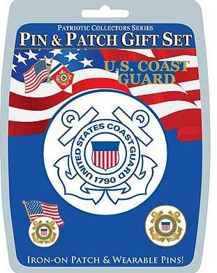 US Coast Guard Pin and Patch Set