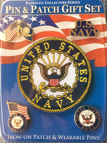 US Navy - Pin & Patch Gift Set
