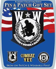 Wounded Warrior Pin and Patch Set