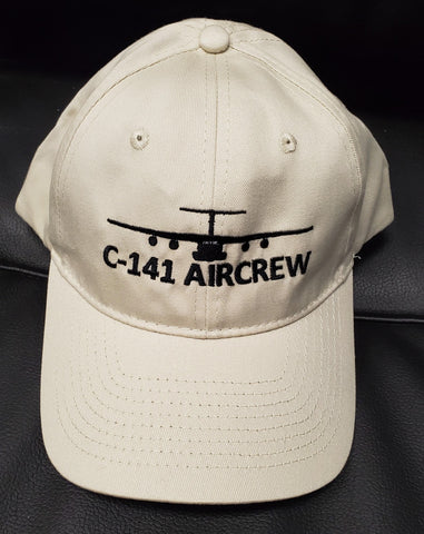 C-141 Starlifter Aircrew Cap - Hat Embroidered Unstructured Twill