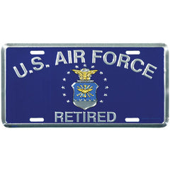 Air Force License Plate Retired