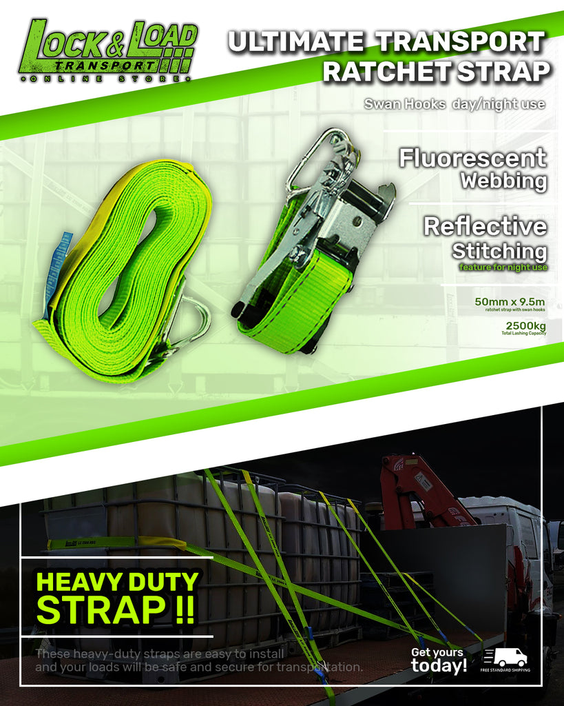 Ultimate Transport Ratchet Strap - Swan Hooks