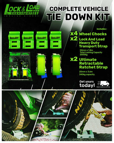 Complete Vehicle Tie Down Kit RW15