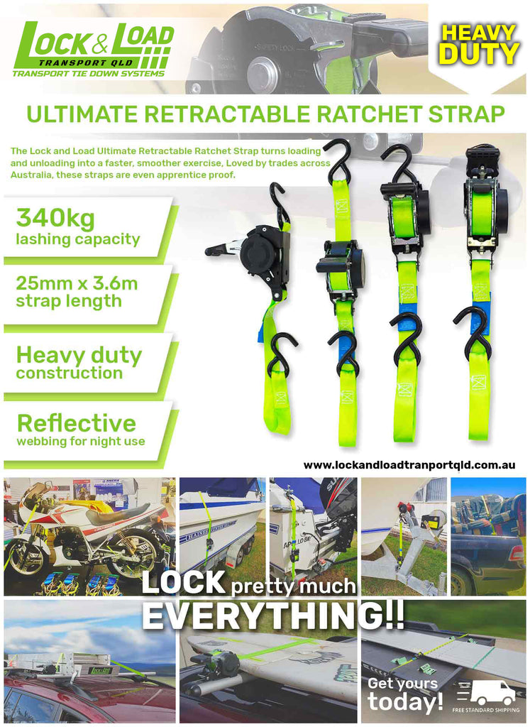 Ultimate Retractable Ratchet Strap
