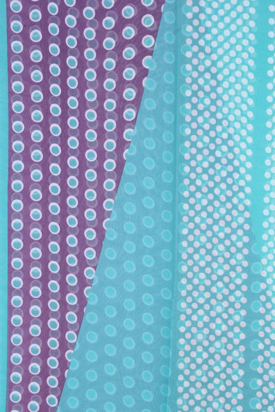 Polka Dots Pattern Sheer Scarf