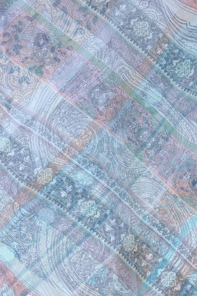 Paisley Pattern Sheer Oblong Scarf