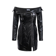 Load image into Gallery viewer, Raven - Tantalizing Leather Dress