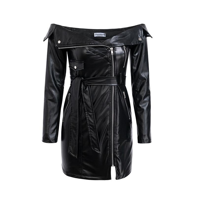 Ann - Tantalizing Leather Dress