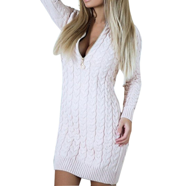 Holly - Elegant long sleeve knitted dress