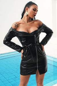 Rachel - Tantalizing Leather Dress