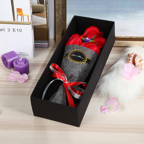 5pcs rose soap flower with gift box