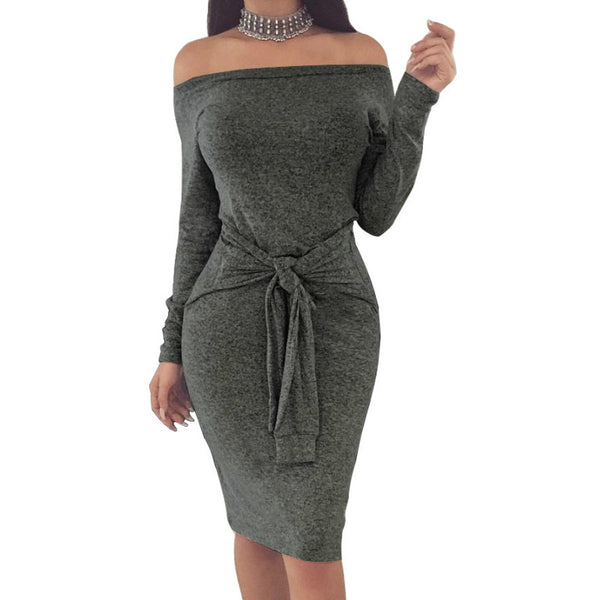 Stella - Bodycon Long Sleeve Dress