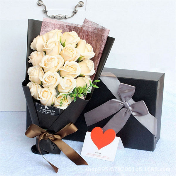 18pcs Scented Rose Soap Bouquet with Gift Box