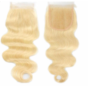 Lace Closures (613)Russian Blonde  - Body Wave - Edgy Tresses