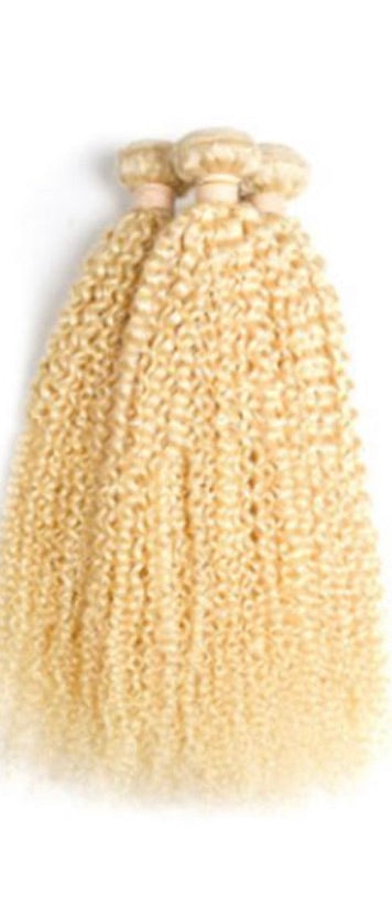Blonde (613) Deep Curly - Edgy Tresses