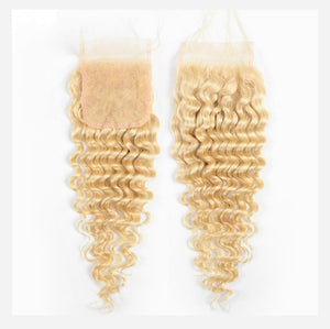 Lace Closures- Russian Blonde ( 613) Deep Wave - Edgy Tresses