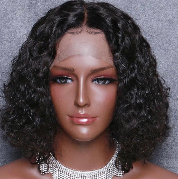 Bang Brazilian Curly Custom Wig -Short - Edgy Tresses