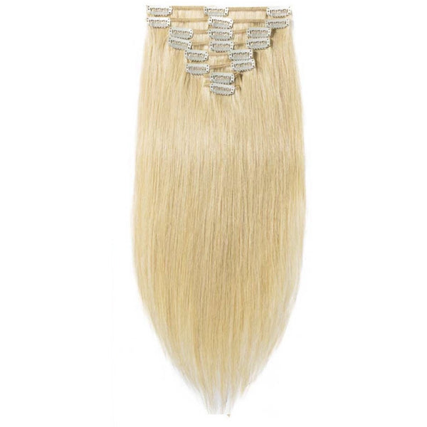 Blonde (613) Clip Ins Straight - Edgy Tresses
