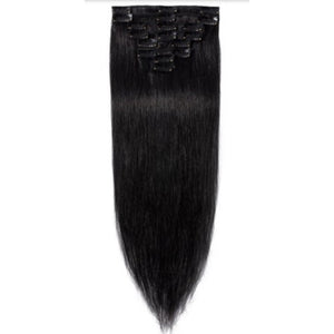 Straight Clip-Ins- (1b) - Edgy Tresses