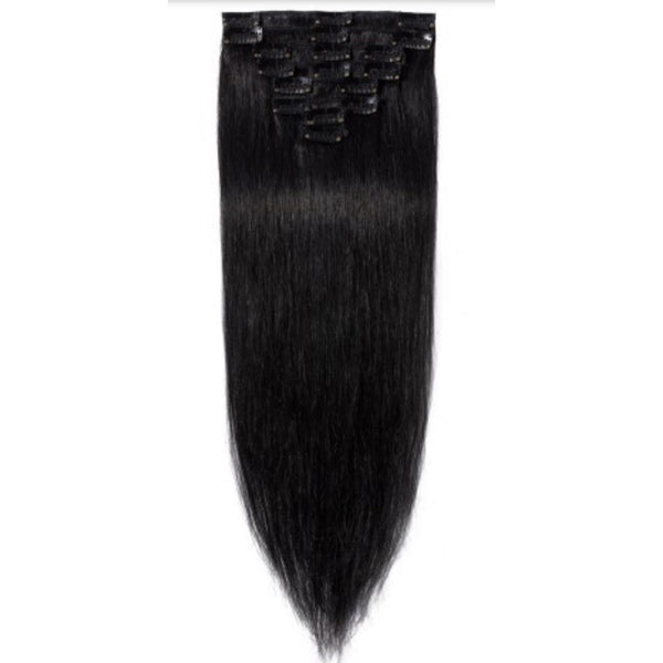 NATURAL  (1B) CLIP IN Straight - Edgy Tresses