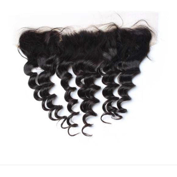 Brazilian Loose Wave Frontal - Edgy Tresses