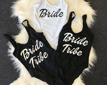 Bride One Piece Swimsuit Bride Tribe One Piece Swimsuit Slogan Swimwear Slogan Swimsuit Hens Party Swimsuit