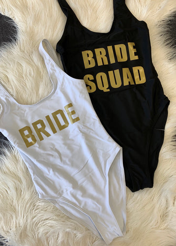Bride Swimsuit Squad Swimsuit Slogan Swimwear Slogan Swimsuit