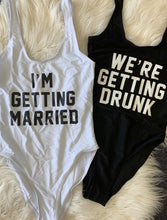 I'm Getting Married One Piece Swimsuit I'm Getting Drunk One Piece Swimsuit Slogan Swimwear Slogan Swimsuit Hens Party Swimsuit