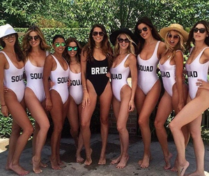 Bride One Piece Swimsuit Squad One Piece Swimsuit Slogan Swimwear Slogan Swimsuit Hens Party Swimsuit