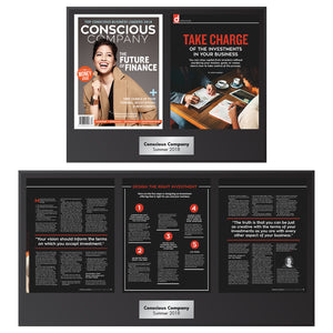 Conscious Company Magazine 5 Page Feature (2 Plaque Set)