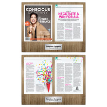 Conscious Company Magazine 4 Page Feature (2 Plaque Set)