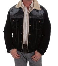 Suede Leather Shearling Jacket, Cafe Brown or Black, 1015