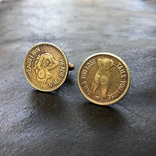 Cuff Links, Peepshow Tokens, NY-CF1093